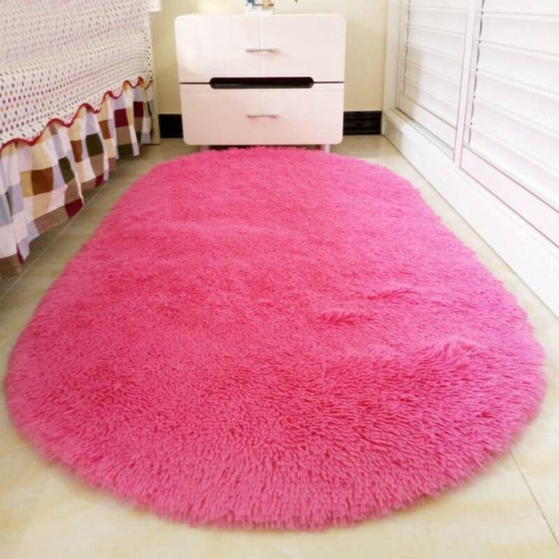 1PC Oval hallway Warm sweet Christmas New year bedroom carpet living ...