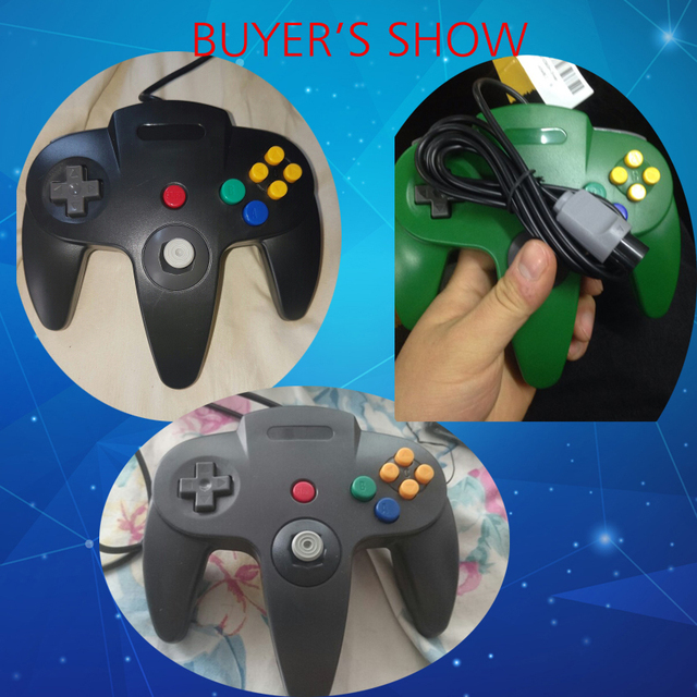 Wired USB/N64 Controller For Nintend N64 Joystick Games Gamepad Joypad For Gamecube Controle For N64 PC For Mac Black Gamepad
