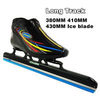 pasendi long track ice skate shoes roller skates for Hockey shoes Ice shoes Adults/Children Ice Skates 410MM 430MM Ice blade