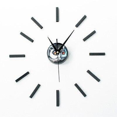 nuovo arrivo di disegno del gufo adesivo eva 30 cm 60 cm cucina orologio da