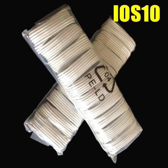 imágenes para Cargador paquetes accesorios Mejor Calidad 200 unids/lote 1 m 8pin Blanco Foil & usb data sync Cable cargador para el iphone 5 6 7
