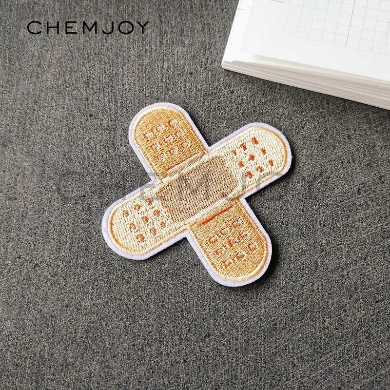 Bandaż łatka haftowana na ubrania prasowanie na naklejki Biker Patch aplikacja do szycia na kurtki dżinsy buty plecak odznaki