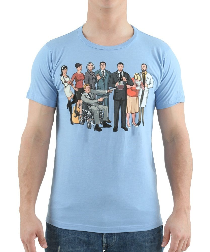 Archer Group LT Blue T-Shirt Rude Top Tee Round Neck ...