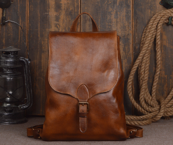 New Classic Wearproof Genuine Leather Male Backpack Individual Large Capacity Shoulder Bag Fashion Laptop Vintage Schoolbag C201 male classic microfiber leather backpack