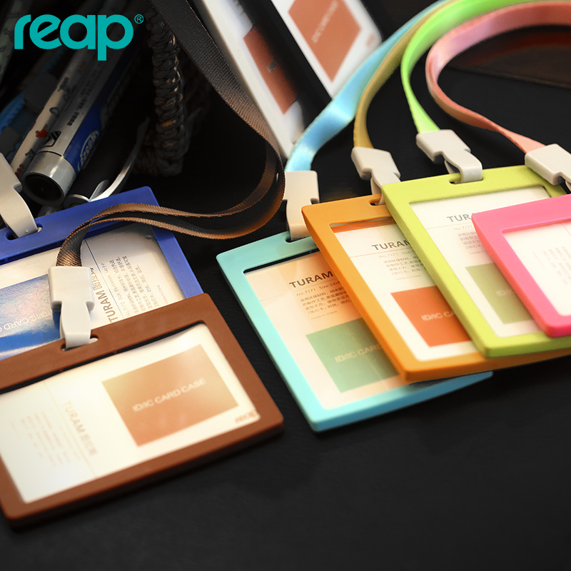 Candy color id card case business card holder employee badge with candy color id card case business card holder employee badge with 7647 lanyards company suppliesstandard size 8654mm in badge holder accessories from reheart Images