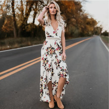 Top seller of 2018 - Women summer new irregular tailed long backless Flower sweet dresses Cute gift for girls