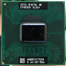 Intel processador para laptop, processador para laptop intel core duo 2 t9550 pga 478 cpu em funcionamento total