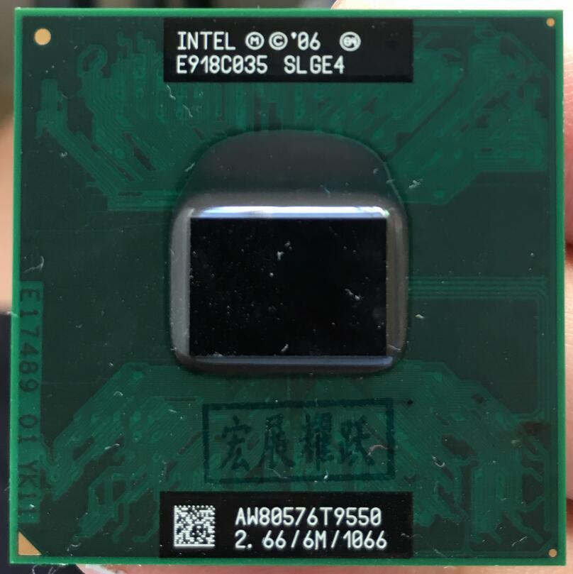 Processeur d'ordinateur portable Intel Core 2 Duo T9550 CPU PGA 478 cpu 100% fonctionnant correctement
