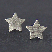 RONGQING 1Pair/lot Silver Plated Simple Five Star Earrings Girls Fashion Geometric Studs Earrings for Women Boucle D oreille