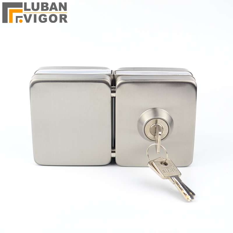 Square,thick reinforced Glass Door Lock,strengthen, sus304 stainless steel,No need to open holes,Frameless glass door,10-12mm thick reinforced glass door lock all sus304 stainless steel no need to open holes frameless glass door cp408