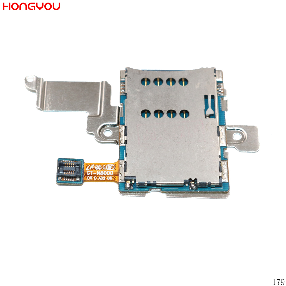 SIM Card Reader Holder Tray Slot Flex Cable For Samsung Galaxy Note 10.1 N8000 GT-N8000