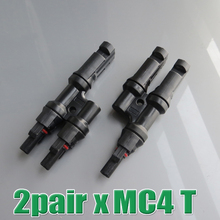 2pair x Multi T Branch MC4 Connector for solar panel parallel connect PV Solar battery connect