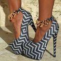 Novas Mulheres Marca Bombas de Corrente de Metal de Salto Alto Sapatos de Mulher Sexy de Salto Alto Saltos Finos Sapatos de Plataforma de Couro Genuíno das Mulheres Bombas sandálias