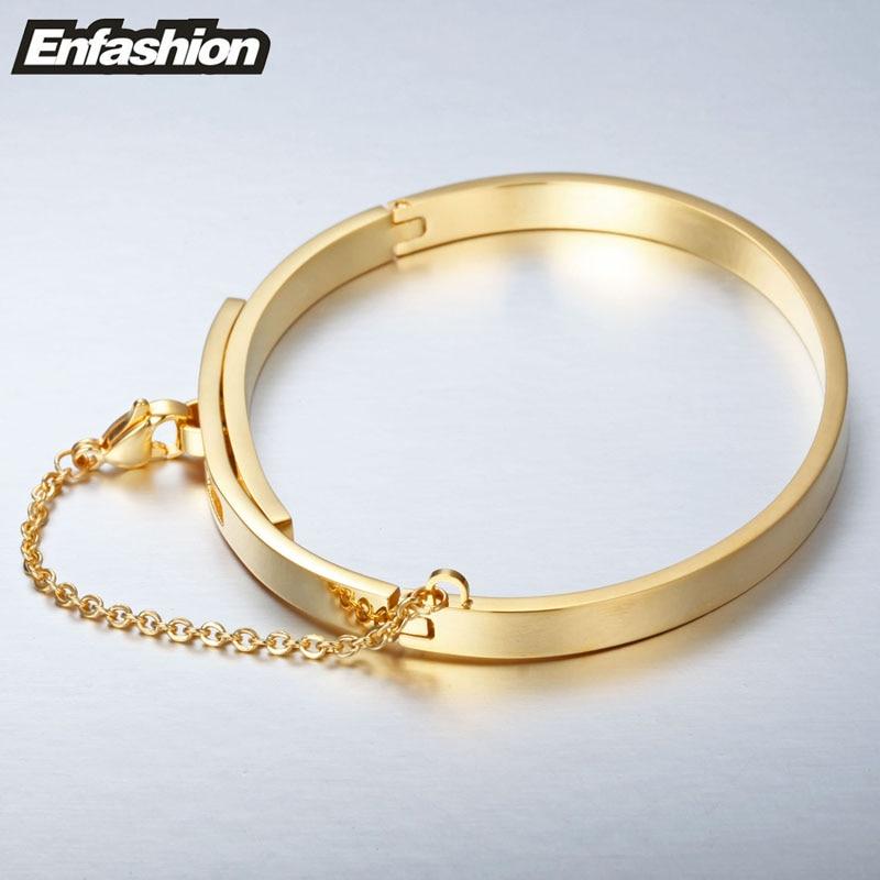 Enfashion Säkerhetskedja Manschettknapp Noeud Armband Guldfärg - Märkessmycken - Foto 3
