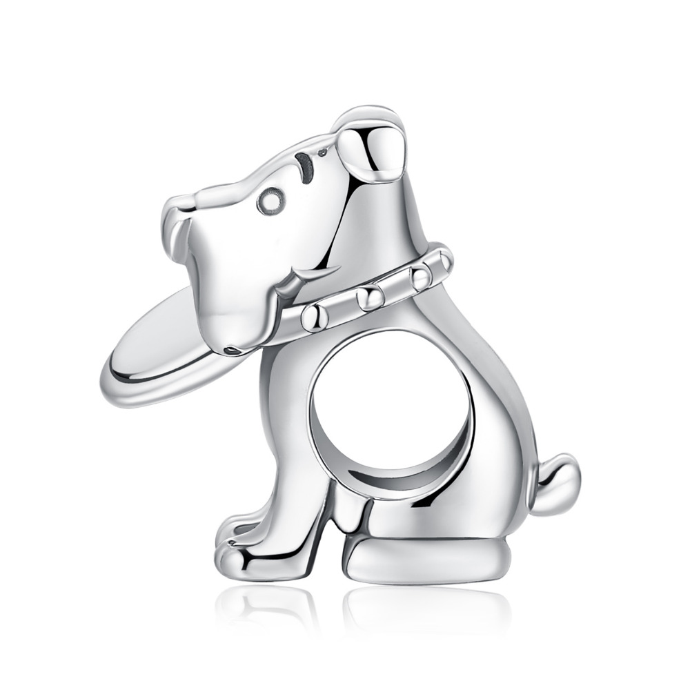 JewelryPalace Frisbee Dog 925 Sterling Silver Beads Charms Silver 925 Original For Bracelet Silver 925 original Jewelry Making in Beads from Jewelry Accessories