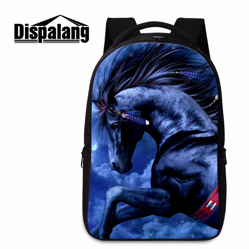 2017 Best Horse Backpacks for Teen Boys College Students Bookbags Laptop Back Pack Cool Mochilas Shoulder Tourist Bag for Men