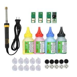 Image 1 - Refill toner Powder cartridge tool kit + 4 chip for HP CF400A 201A Color LaserJet Pro M252dn M252n MFP M277dw M277n M274n