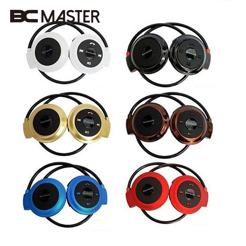 BCMaster Wireless Earpiece Bluetooth Headset Foldable Sports Over ear Headphones Music Headset Earphone with TF FM Radio Gift