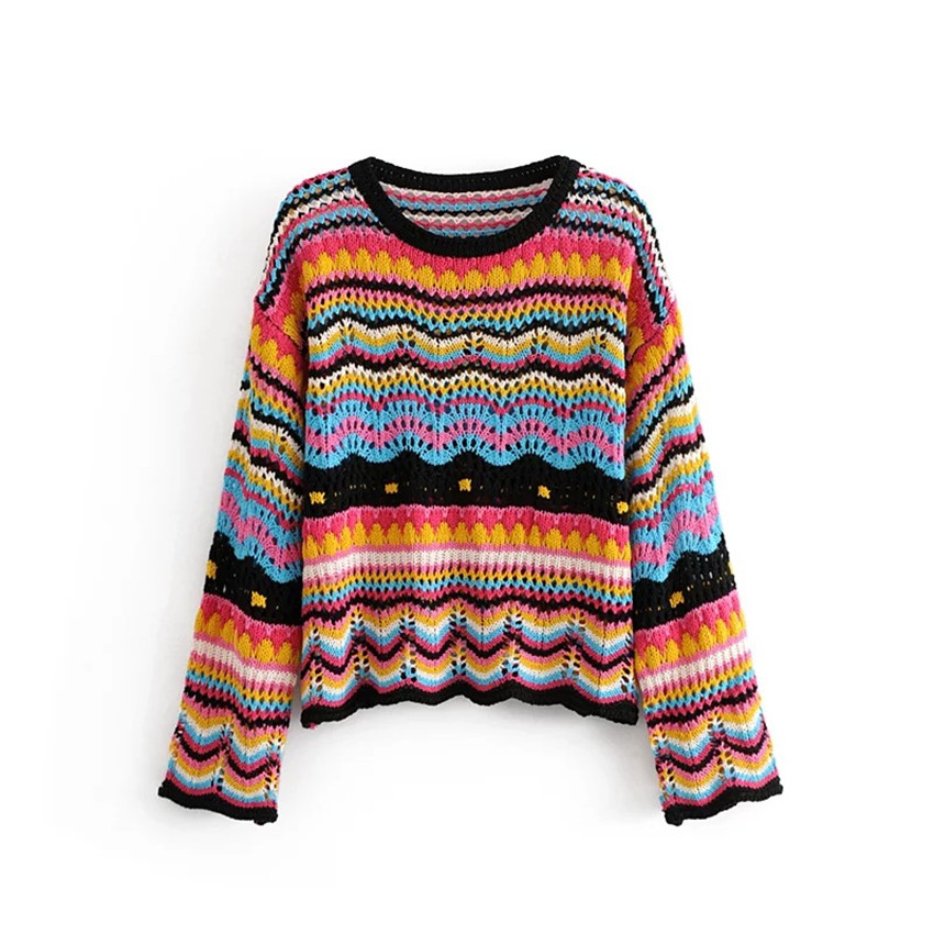 a3f11cefb0f9 2018 Autumn Crochet Sweaters Women Sweaters And Pullovers Runway ...