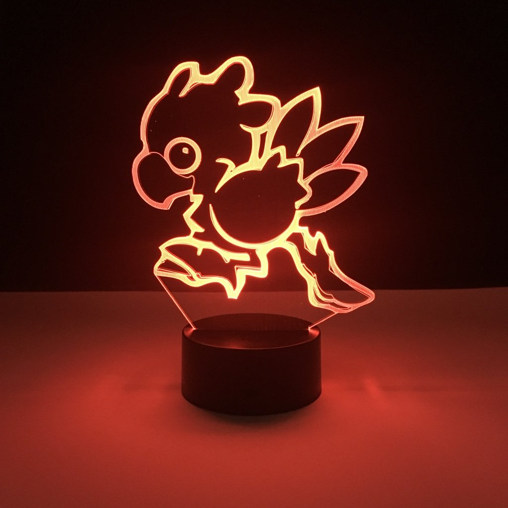 Kids Led Nighlight Chocobo Final Fantasy Night Light For Child Room Decor Light Boys Best Gift Flightless Bird 3d Led Night Lamp