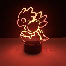 Kids Led Nighlight Chocobo Final Fantasy Night light for Child Room Decor Light Boys Best Gift Flightless Bird 3d Lamp