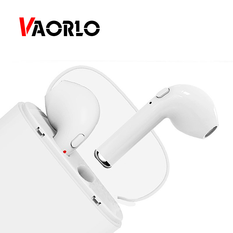 VAORLO TWS Bluetooth Earphone Mini Wireless Earpiece Stereo Sport Headphones invisible Earbuds Headsets with Mic For iPhone X 8 high quality laptops bluetooth earphone for msi gs60 2qd ghost pro 4k notebooks wireless earbuds headsets with mic