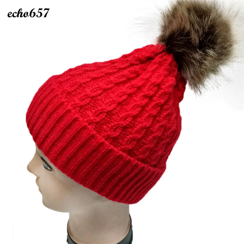 Hot Sale Fashion Caps Echo657 New Designer Fashion Women Crochet Wool Knit Beanie Ball Cap Baggy Winter Warm Hat Jan 4 new women winter crochet wool knit beanie beret ball cap baggy warm hat
