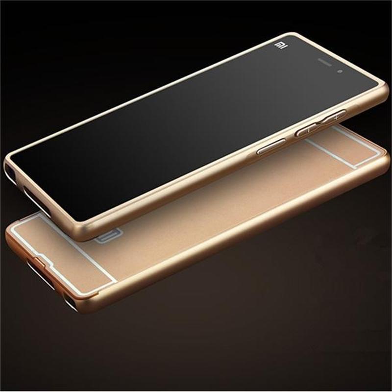 Xinchentech para Xiaomi Mi3 Funda de aluminio de metal + acrílico - Accesorios y repuestos para celulares