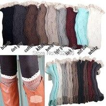 Lace Boot Cuffs knit boot topper lace trim faux legwarmers - lace cuff - shark tank leg warmers 9 colors #3737