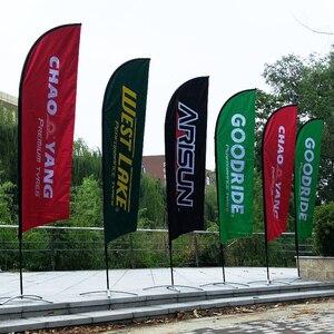 Image 2 - フェザー旗ビーチフラグとバナーグラフィックカスタム印刷交換プロモーションお祝い屋外広告装飾