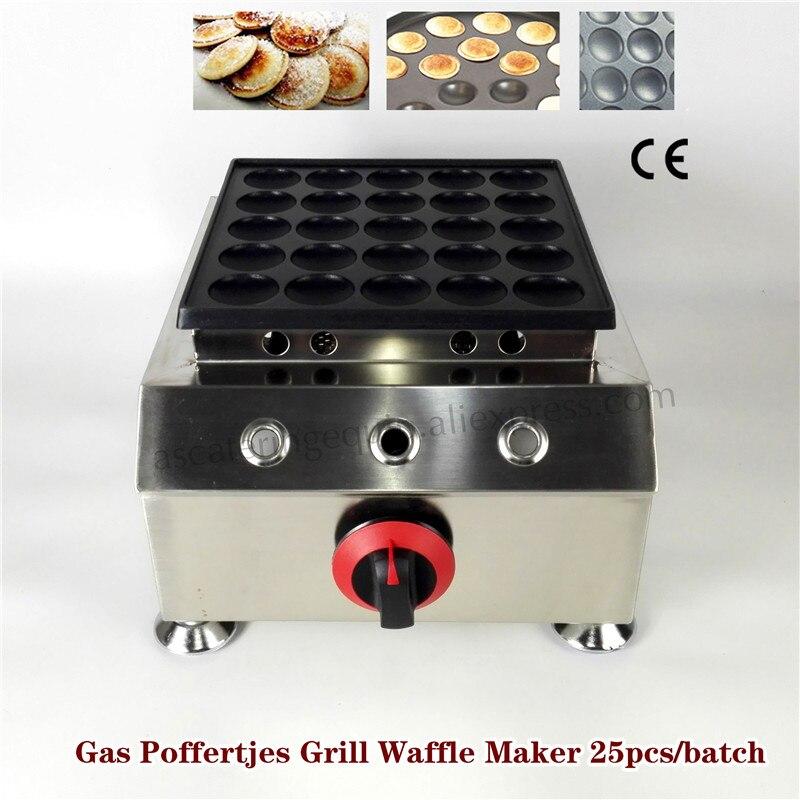 Non stick 4.5cm Gas Mini Dutch Pancake Poffertjes Maker Baker Machine 25pcs/batch