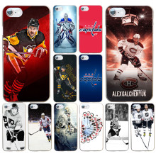Funda dura transparente para iphone 4 4s 5 5s se 6 6s 8 plus 7 Plus X 154DF Hockey sobre hielo(China)