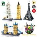 Gran arquitectura del mundo grandes ladrillos de juguetes educativos bloques de construcción de edificios de arquitectura 1642 unids compatible con lego