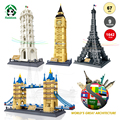 World's Great Architecture Large Building Blocks Architecture 1642pcs City Buildings Educational Toy Bricks Compatible with lego