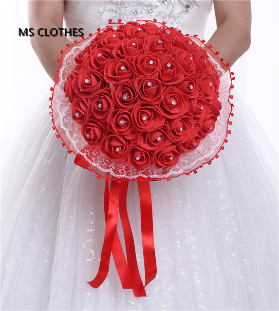 Кристаллы Красный Кот Желтый Большой Свадебный Букет Свадебный Букет С Лентой Оркестра