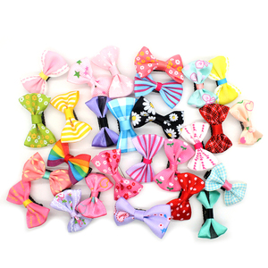 10Pcs/Lot Hair Clips Candy Color/Dot/Flower Print Ribbon Bow Hairpin BB Hair Clips for Baby Girls Hairpins Hair Styling Tool