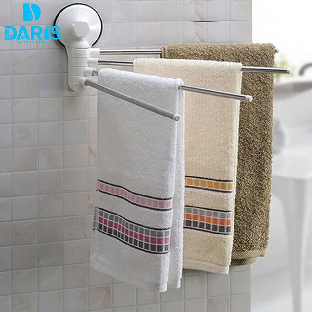 Daris Towel Racks For Bathroom Hangingtowel Rack Accessories No Drill Hook Rotating Freestanding
