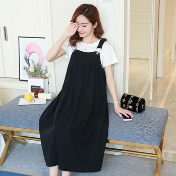 New Loose Summer Maternity Dress with Short Sleeve 2