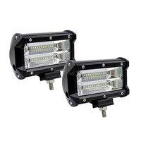 5INCH 72W LED WORK LIGHT BAR FLOOD LIGHT 12V 24V CAR TRUCK SUV BOAT ATV 4X4