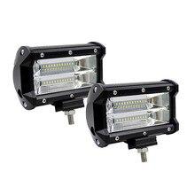 5INCH 72W LED WORK LIGHT BAR FLOOD LIGHT 12V 24V CAR TRUCK SUV BOAT ATV 4X4 4WD TRAILER WAGON PICKUP DRIVING LED Fog Light