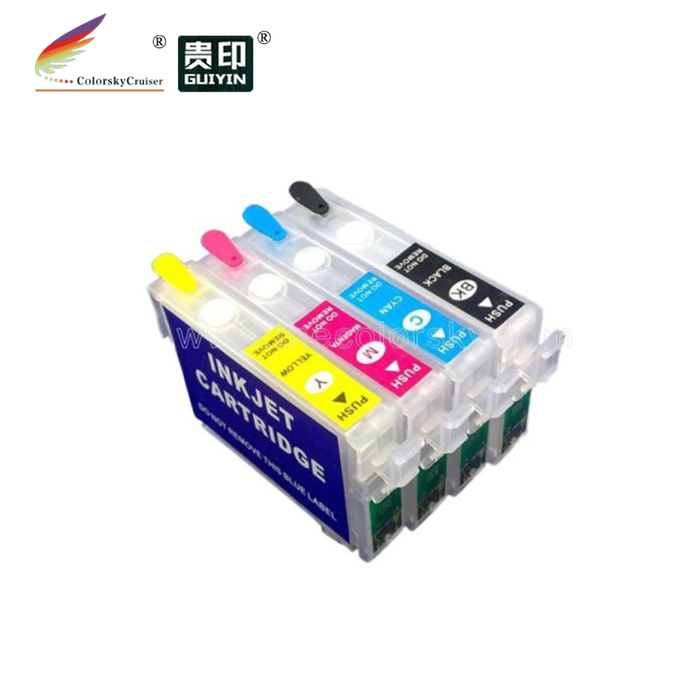 (RCE1251) refill ink cartridge for Epson T1251-T1254 T125 T 125 Workforce 325 BKCMY (with ARC chip)