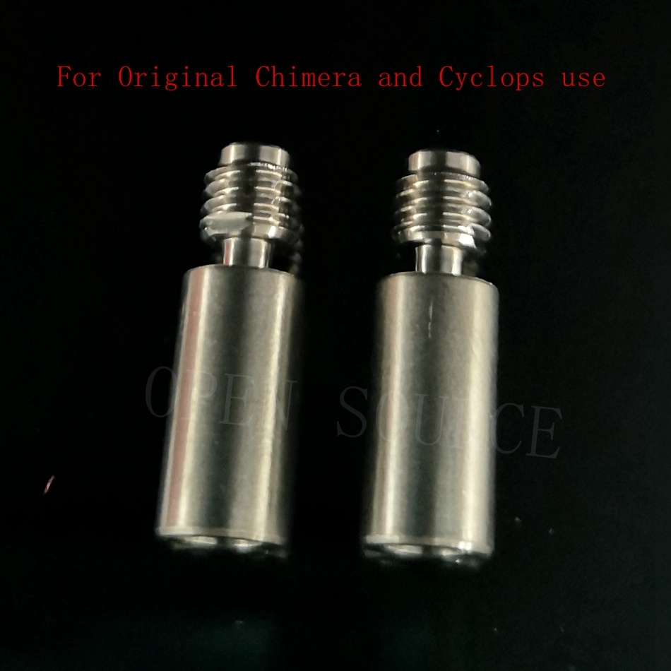 2 pces super suave titanio calor quebrar a garganta barril termico f original v6 quimera quimera