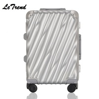 Новая мода 20 24 28 Винтаж прокатки Hardside Чемодан дорожного чемодана с колесами Алюминий + ABS + PC пользовательские лазерная гравировка