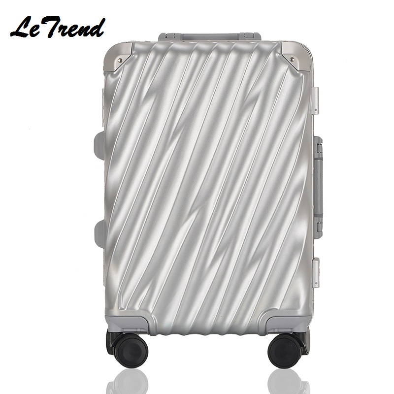 New Fashion 202428 Vintage Rolling Hardside Luggage Travel Suitcase With Wheels Aluminum+ABS+PC Custom Laser Engraving