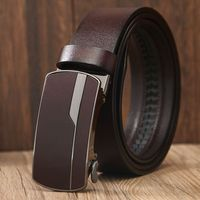 2018 Mens Genuine Cow Leather Belts Luxury For Men New Leisure Classice Vintage Automatic Buckle Belt