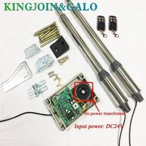 Image 3 - Abridor de puerta eléctrica, 300 KG, Motor de puerta oscilante con 2 mandos a distancia, OEM