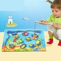 Brinquedos do bebê de madeira brinquedos magnéticos de pesca marinhos dos desenhos animados Animal magnético de madeira brinquedos educativos para crianças presente de aniversário