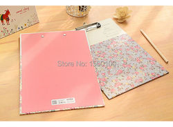 New fashion a4 paper clipboard portable file clipboard with hook cute flower writing pad for gift.jpg 250x250