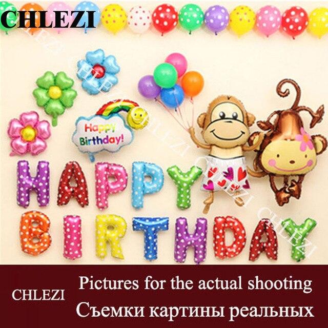 encargo del beb cartas feliz cumpleaos decoracin suministros fiesta de cumpleaos de los nios promocin globo