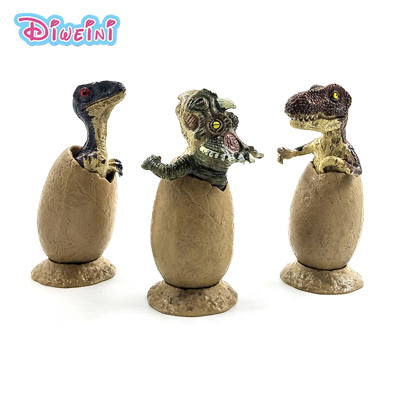 Simulation mini cute Dinosaur Egg Animal Model Plastic Action figure home decor fairy garden decoration accessories figurine toy in Action Toy Figures from Toys Hobbies
